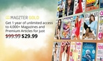 Magzter.com 1 Year Gold Subscription for $29.99 (70% off) - Access to 4,000+ Magazines