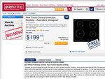 580mm Frameless Ceramic Touch Control Induction Cooktop $199, Free Delivery