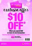 Priceline - $10 off $50 Spend (Instore + Online) - Requires Free Sister Club Membership