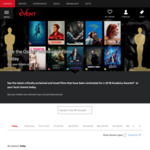 [Cinebuzz Membership Required] See Oscar Nominated Movies for $10 Plus Booking Fees @ Selected Event Cinemas