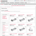 Up to 91% off Kenwood Attachments @ Kenwood Official Website