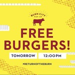 [VIC] Free Smoked Brisket Burger, 9/5 Wednesday from 12PM at Burn City Popup [Melbourne]