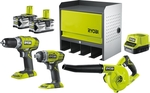 Ryobi 18V ONE+ 4.0Ah 3 Piece Value Kit Plus Storage Cabinet $299 (Was $399) @ Bunnings
