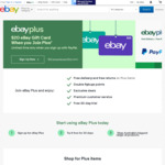 Get a $40-$60 eBay Gift Card with $49 Annual eBay Plus Membership Sign-up @ eBay