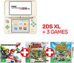 New Nintendo 2DS XL Animal Crossing Edition + TLOZ Tri Force Heroes + Mario Kart 7 $169.15 + Delivery @ EB Games eBay
