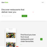 $15 off Uber Eats (New Users Only)