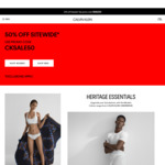 50% off Sitewide (Free Shipping over $100 Spend) @ Calvin Klein