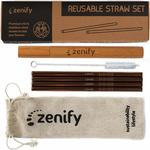 Zenify Metal Reusable Straw Set 4x w Brush+Bag+Case (20% off) $4.76 + Delivery (Free with Prime / $49 Spend) @ Zenify Amazon AU)