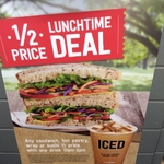 Half-Price Lunch with Drink Purchase 11am-2pm Daily @ 7-Eleven