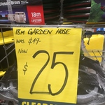 [VIC] Pope Classic Brass 18m Heavy Duty Garden Hose $25 (Was $49) @ Bunnings Nunawading