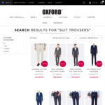 Super 100's Wool / Wool/Linen Mixed Suit Trousers $49 (Was $349-$220) Multiple Color/Size @ Oxford Spend Over $100 Free Shipping