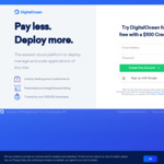 DigitalOcean VPS 60-Day Trial with $100 US Credit (Credit Card Required)