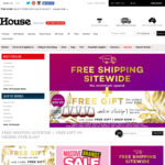 House: Free Shipping Sitewide (No Minimum Spend) & Free Gift (Orders over $150)