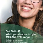 [VIC] 50% off Frame+Lens @ Specsavers (Northland, Preston, Ringwood, Moonee Ponds & Pacific Werribee)