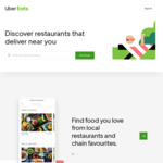 Uber Eats - $20 off Your First Order
