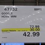 [NSW] Google Home Mini $42.99 @ Costco Lidcombe (Membership Required)