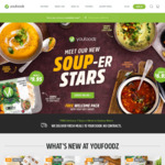 20% off Meals (Min Spend $49) @ Youfoodz