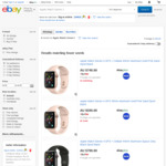 [eBay Plus] Apple Watch Series 3 White 38mm GPS $293 | 42mm Black $335 | Fitbit Versa $209 @ Big W eBay