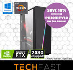 Ryzen 7 Gaming PCs: R7-2700 RTX 2080: $1439.10 / R7-2700 GTX 1660: $799.20 / R7-2700 RTX 2080Ti: $2249 Delivered @ TechFast eBay