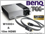 BenQ W1000+ 1080P Projector $1199 + $17.50 Postage (Melb) @ The Cable Connection