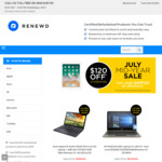 Get $200 Extra off Storewide on All Refurbished Laptops (Min Purchase $599) + Free Standard Shipping @ Renewd