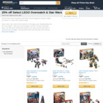 [Amazon Prime] 25% off Selected LEGO Overwatch and Star Wars Sets @ Amazon AU