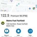 [NSW] P98 Fuel 122.5c/L @ Metro Fuel, Fairfield