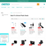Choetech USB-C Cable $0.28, Backpack $2.95, 5200mAh Power Bank $4.43 & More + Delivery (Free w/ $29.64 Spend) @ Choetech
