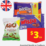Imported British Chocolate - 4 Pack of Cadburys Wispa/Double Decker - $3 @ Reject Shop