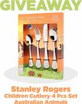 Win a Stanley Rogers Australian Animals Children Cutlery 4 Pcs Set from Mega Boutique