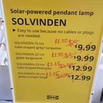 [VIC] 75% off LED Hanging Lanterns 'Solvinden' @ IKEA Homemaker (Springvale)