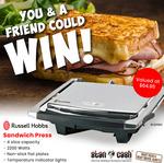 Win 1 of 2 Russell Hobbs Sandwich Press Sandwich Makers Worth $64.95 from Stan Cash