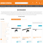 "Shimano Spinning Combo 6'6"" to 7""6"" (Was $169) $39 - $49 (in-Store) @ Anaconda (Req Adventure Club)"