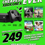 Xbox One X + 3 Games for $249 When You Trade Your Xbox One S + 2 Games @ EB Games