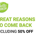 50% off First Week Subscription for Reactivating Customers @ HelloFresh