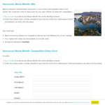 Win a Trip to for 2 Adults from Melbourne Australia to Vancouver Canada (Victorian Residents Only)