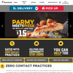 Any Large Pizza (Vegan, Premium, Traditional) $10ea Pickup, Two Sides $6 @ Domino's