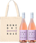 Free Tote Bag with 2 Bottles of Bone Dry Rosé Wine $50 Delivered @ Dan Murphy's (Online Only)