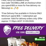 [VIC] Free Delivery from Taco Bell on Menulog ($21.05 Minimum Spend)