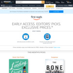 [Amazon Prime] Amazon First Reads - Early Access + Choose One of The Eight Kindle Books for June 2020