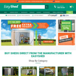 Free Tall Upgrade + Free Delivery to 170 Depots @ Easyshed