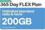 Kogan Mobile Prepaid 365 Days FLEX 200GB $200 @ Kogan (New and Existing Customer)