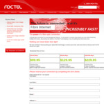 [VIC] Roctel (DGtek) Fiber Optic 1000/1000mbps Synchronous $229.95 Per Month - $275 Setup Fee