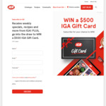 Win 1 of 2 $500 Gift Cards from IGA
