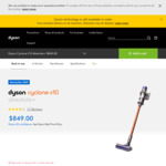Dyson V10 Cyclone Absolute+ $849 Delivered @ Dyson Australia