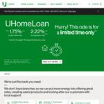 UBank Home Loan 3 Year Fixed Rate 1.75% (2.22% CR)