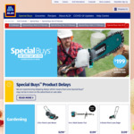 4 Stroke 173cc Self-Propelled Petrol Lawn Mower $299, Honeywell Safe $139 @ ALDI