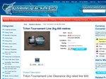 Free Triton Tournament 2kg fishing line, pay $7.95 p+h