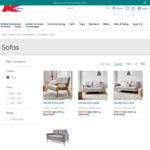 Harrison 3 Seater Sofa $99, Timber 2 Seater $29, Harrison 2 Seater $69, Generic 2 Seater $49 + Delivery @ Kmart