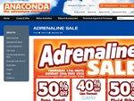 ANACONDA Adrenaline Sale - 50%off Dune, Denali, Spinifex Tents/Sleeping Bags, Fluid Bikes